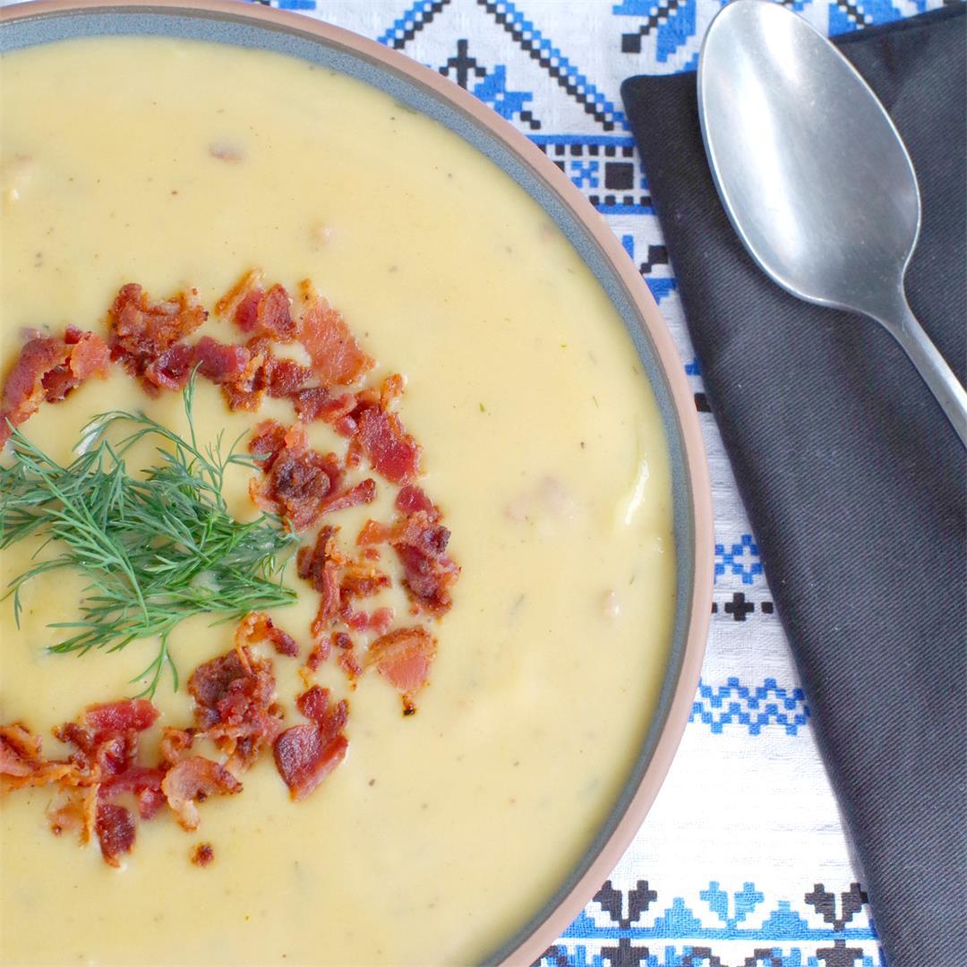 Loaded Pierogi Soup