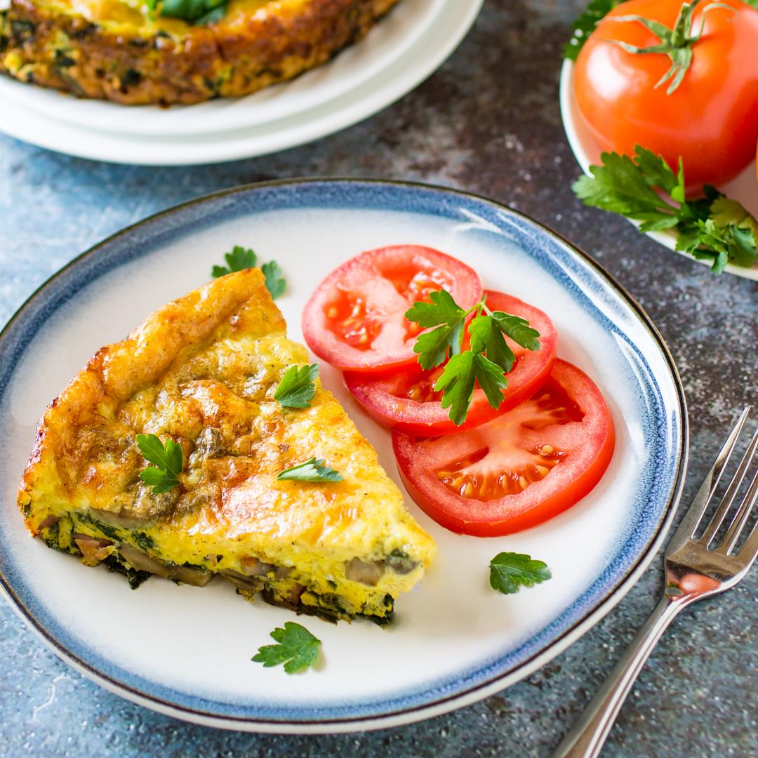 Ham and Swiss Baked Frittata