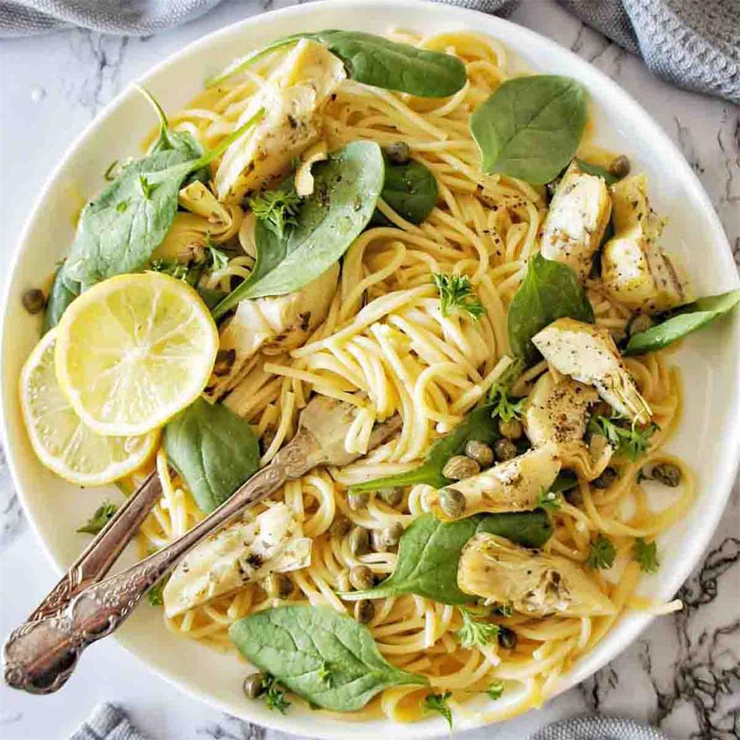 Artichoke Spaghetti