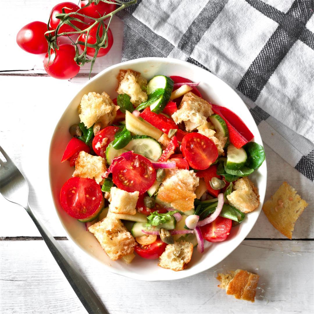 Crispy Panzanella Salad Recipe