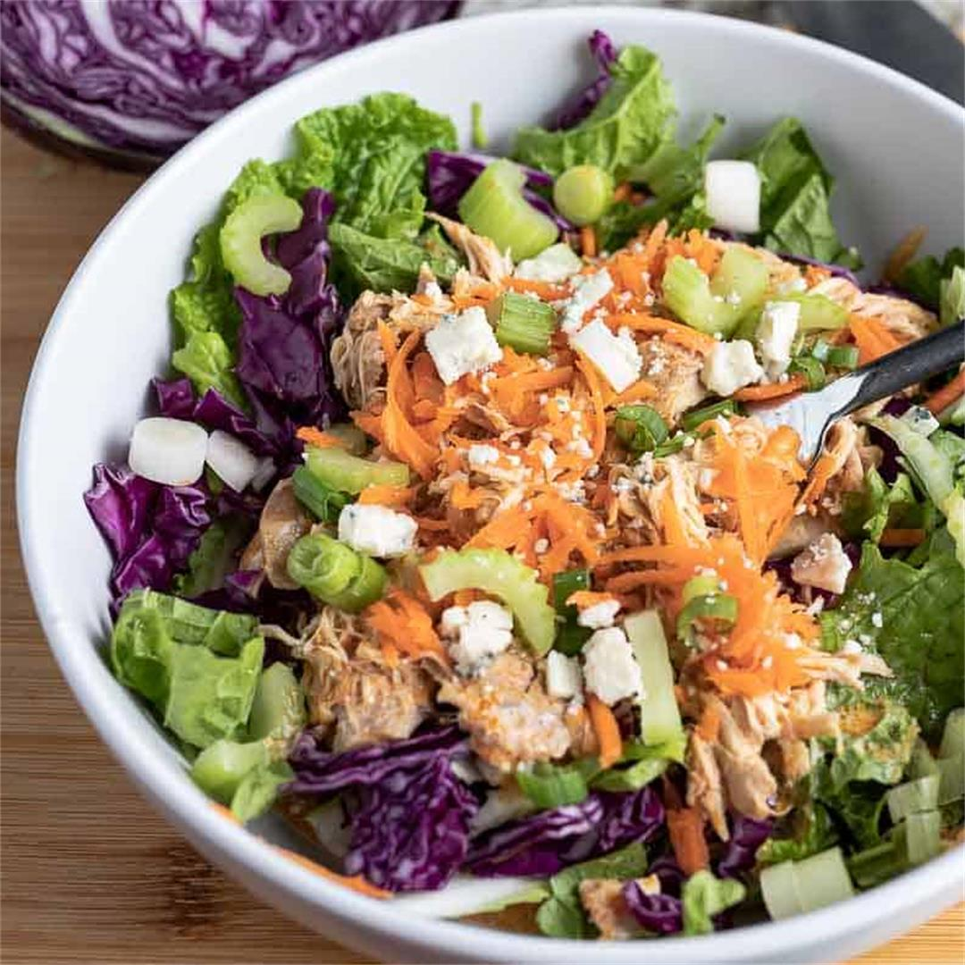 Instant Pot Shredded Buffalo Chicken Bowls