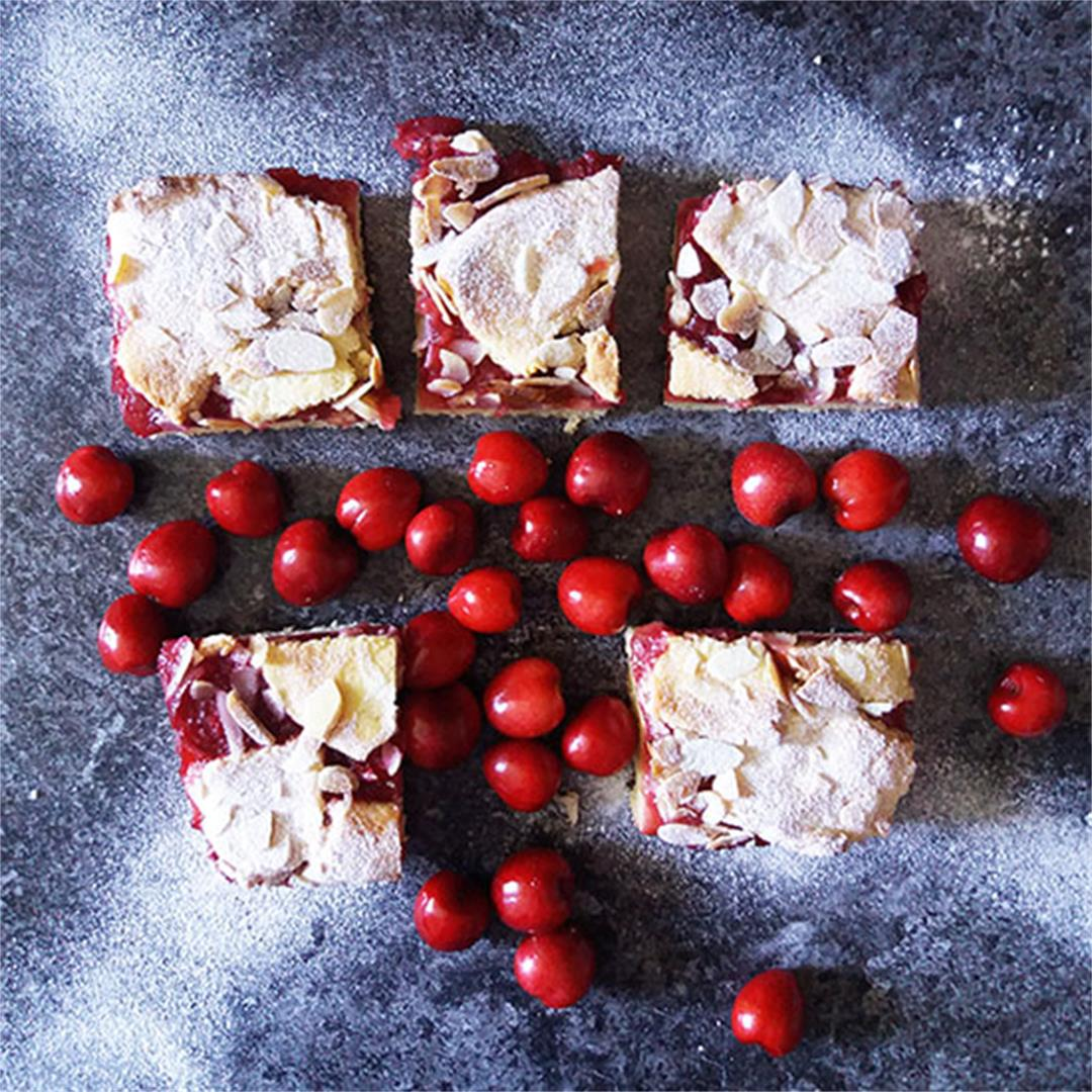 Sweet Cherry Cookie Squares from Scratch