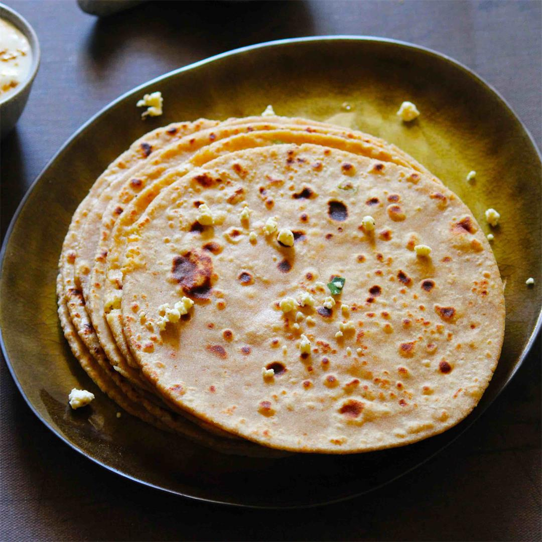 Paneer Paratha | Cottage Cheese Bread
