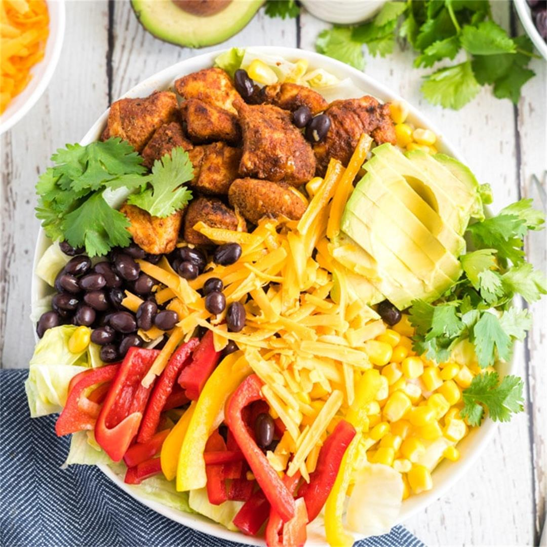 Southwest Chicken Salad (with Chipotle Ranch Dressing)
