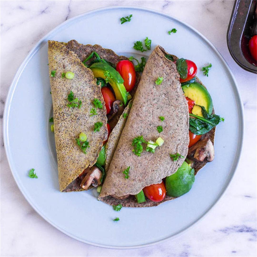 Vegan Breakfast Crêpes (vegan + gluten-free)