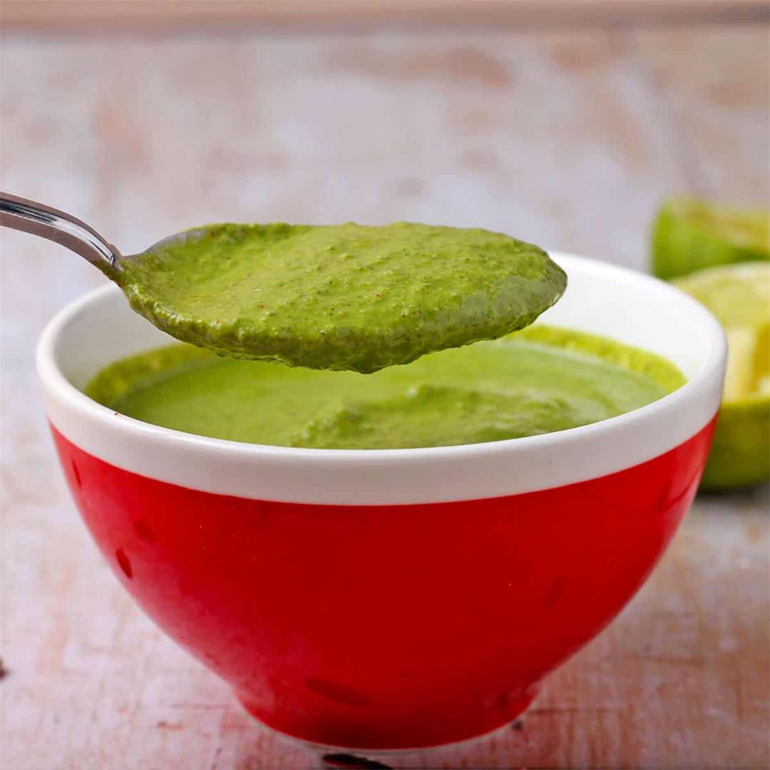 Creamy cilantro lime dressing (oil-free and dairy-free)
