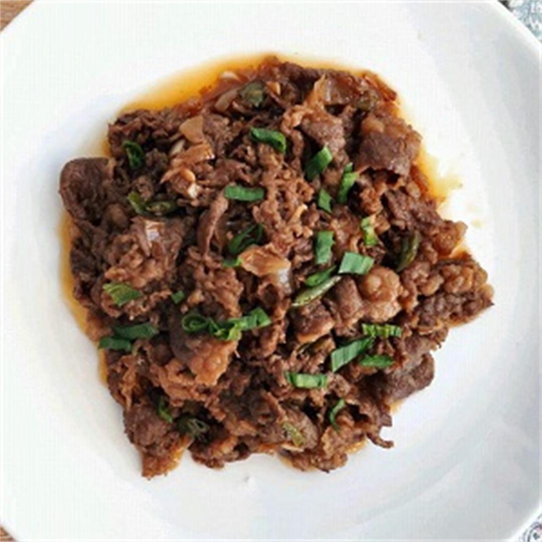 Spicy Korean Beef Stir Fry