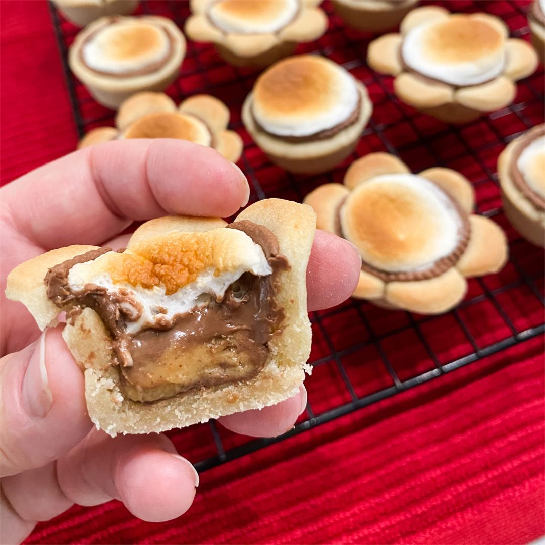 Peanut Butter S'mores Cookie Cups