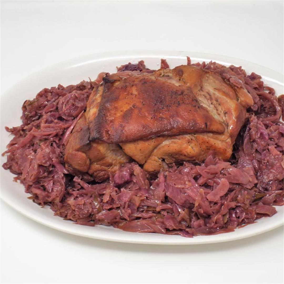 German Braised Pork and Red Cabbage