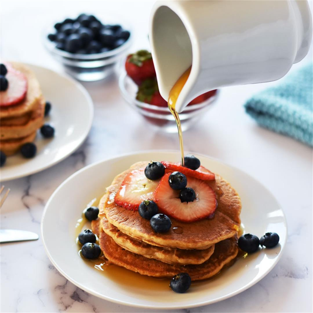 Vegan Whole Wheat Pancakes Recipe
