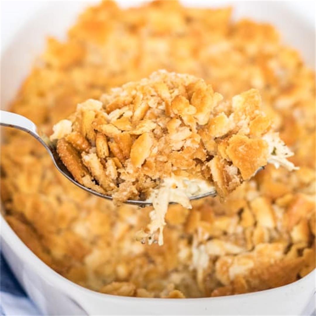 Ritz Chicken Casserole Recipe {Only 6 Ingredients!!!}