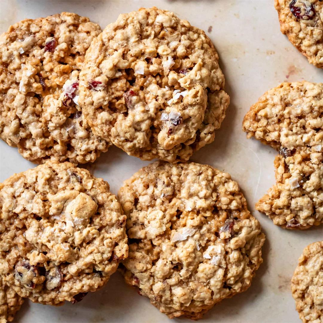 Chewy Oatmeal Craisin Cookies - Cooking Therapy