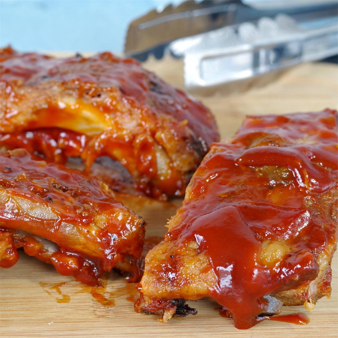 Smoky Mesquite BBQ Slow Cooker Beer Ribs