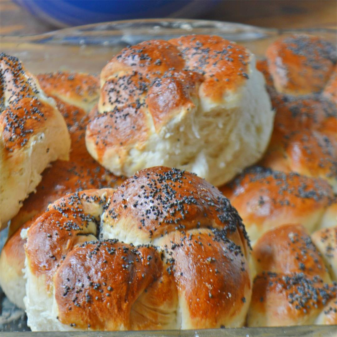Poppy Seed Bread Knots — Tasty Food for Busy Mums Bread Making