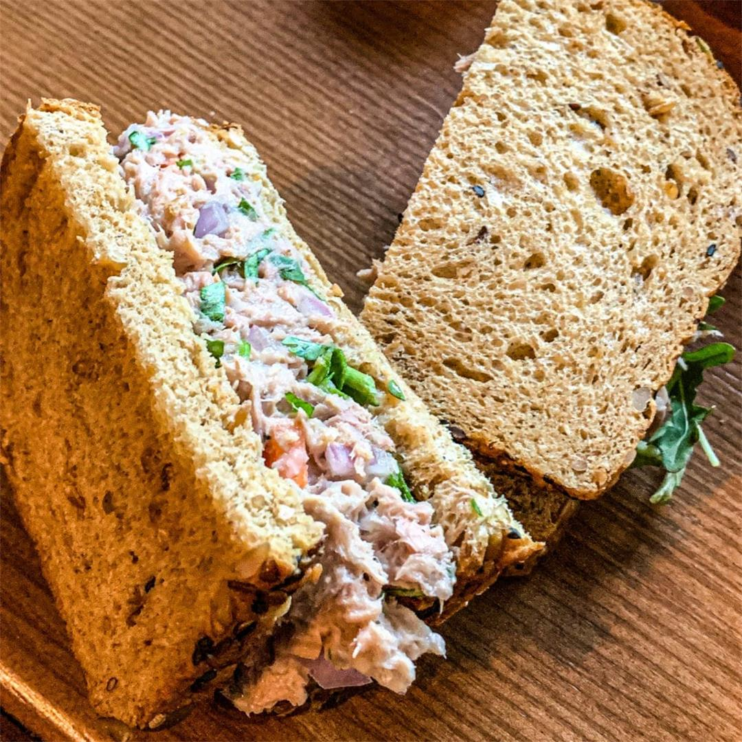 Lemon Pepper Tuna Fish Sandwich