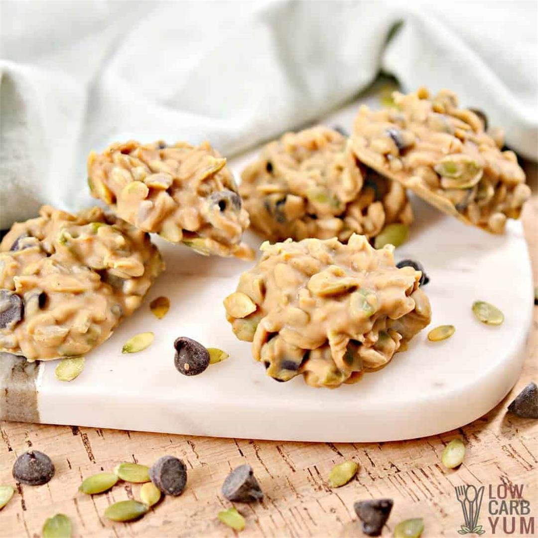 Keto No Bake Cookies with Peanut Butter