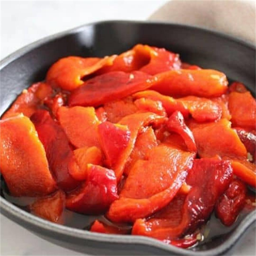 Roasted Red Peppers (Capsicums) - It's Not Complicated Recipes
