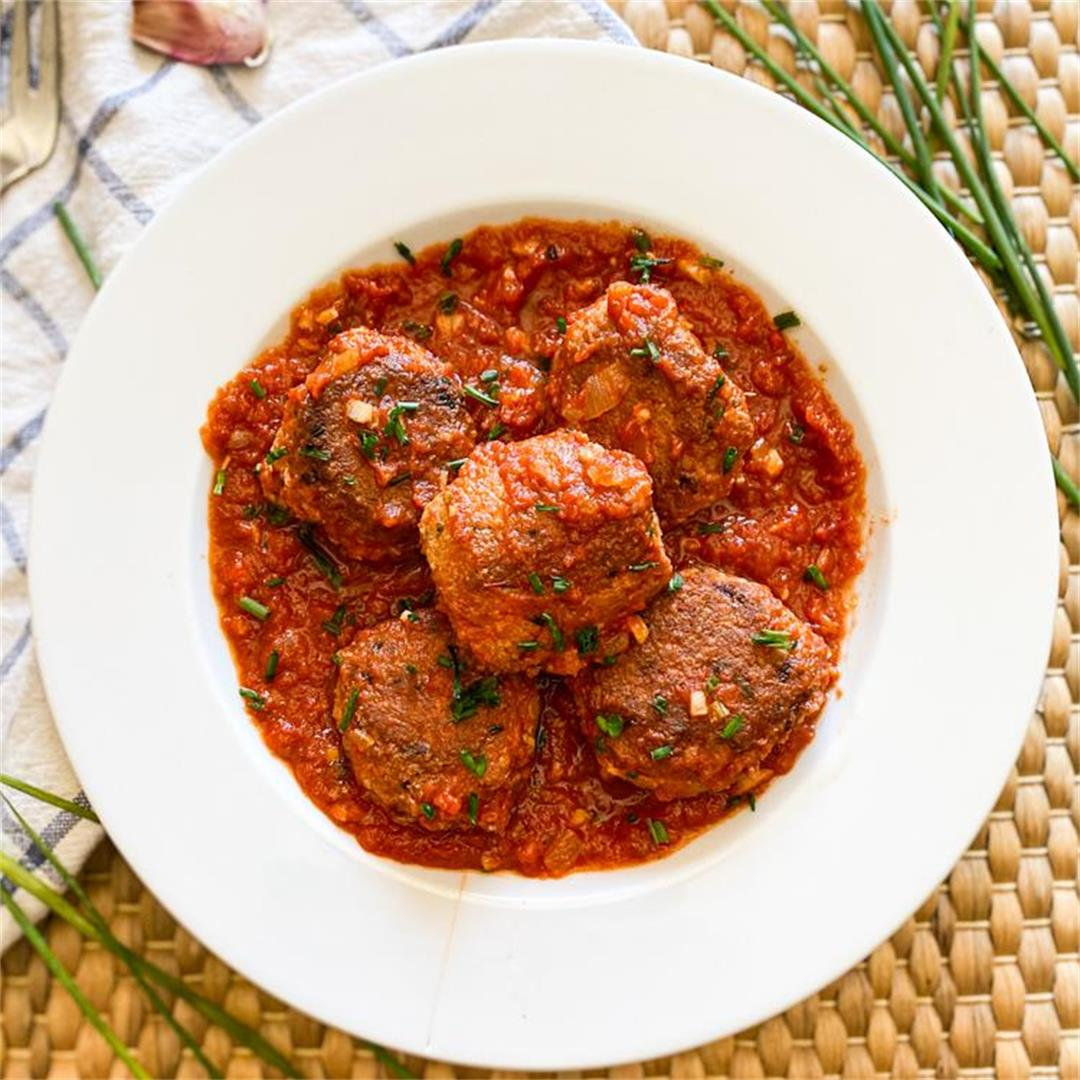 Delicious Tuna MEATBALLS in Spanish Tomato Sauce