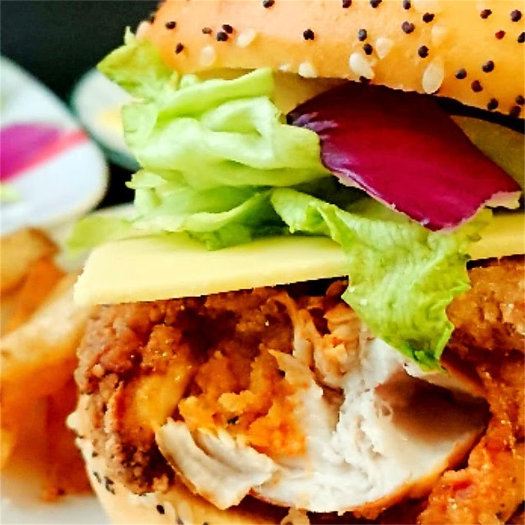 Allergy Friendly Chicken Zinger Burger