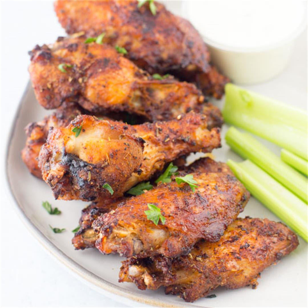 Sweet & Spicy Dry Rubbed Air Fryer Wings