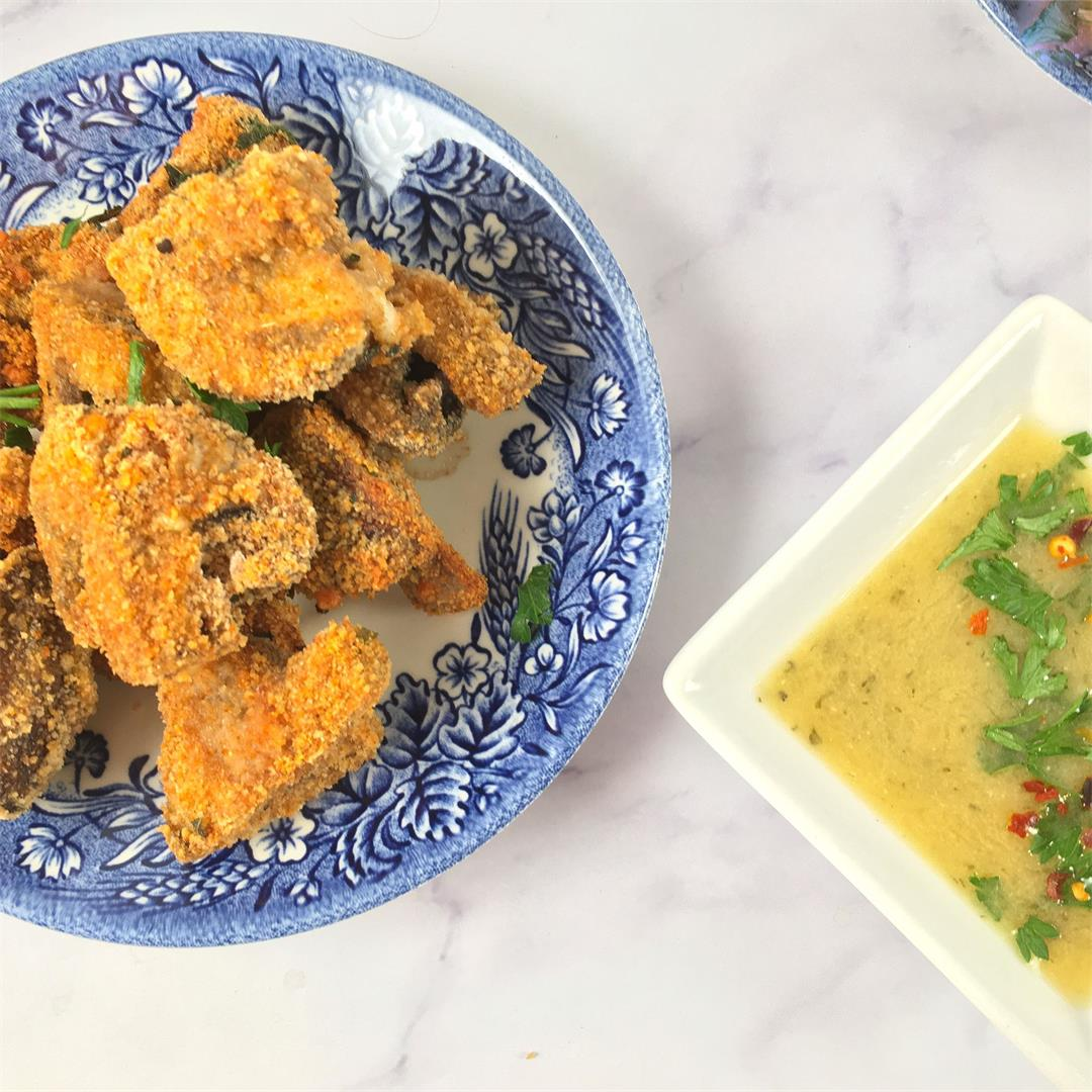 Air Fryer Mushrooms (Fried Mushrooms with No Added Oil!)