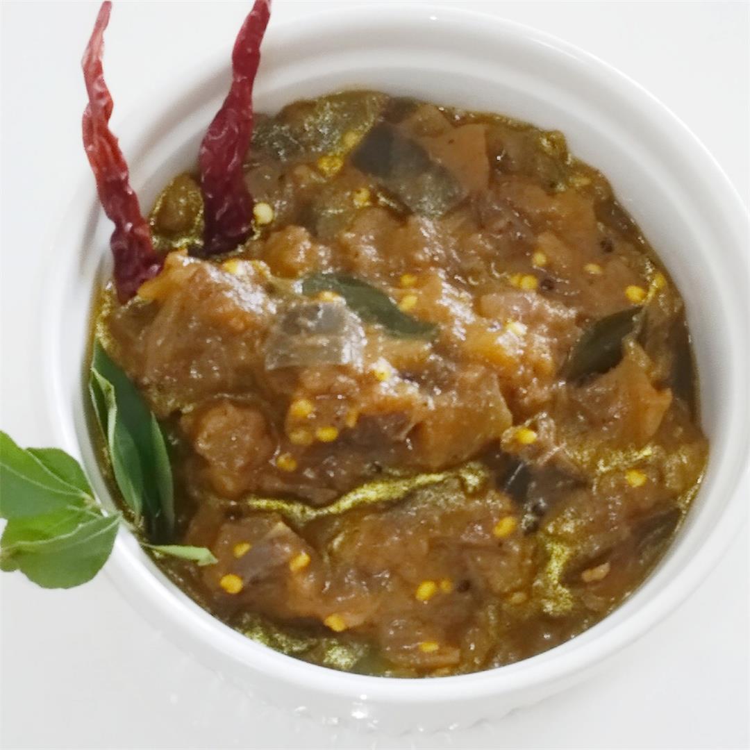 Brinjal/Eggplant Chops (Side Dish For Biriyani)