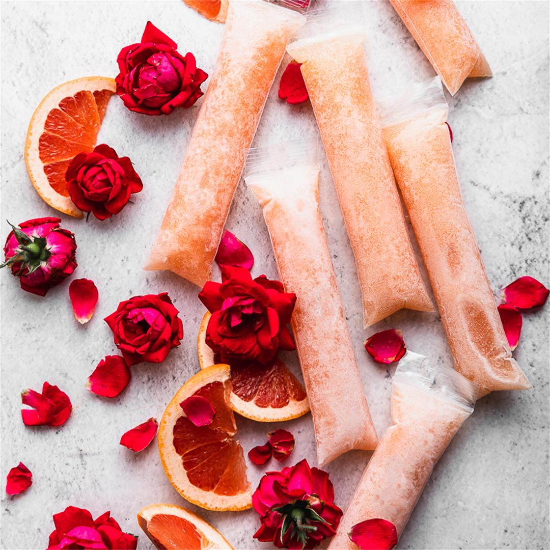 Prosecco Popsicles Grapefruit