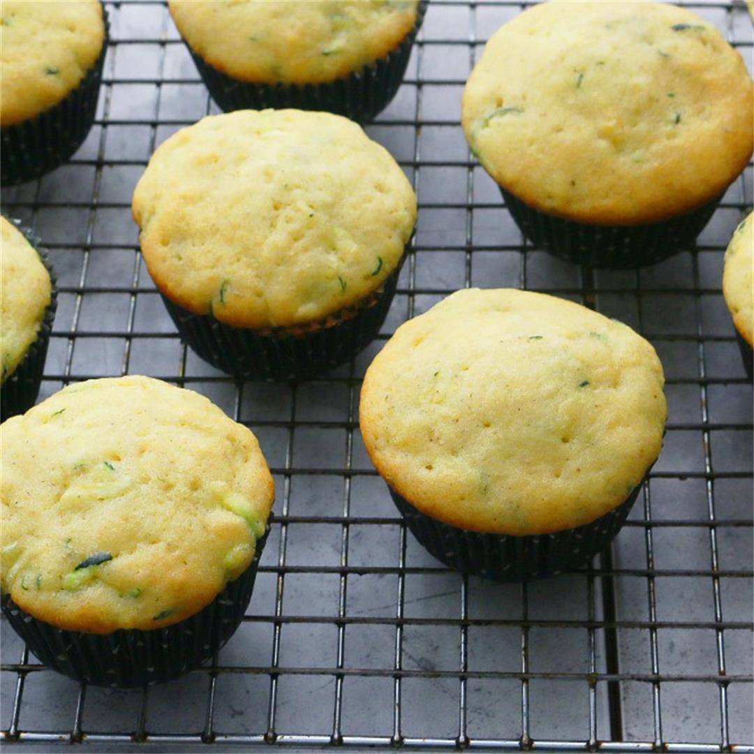 Easy Zucchini Cupcakes with Lemon Glaze - Kitchen @ Hoskins