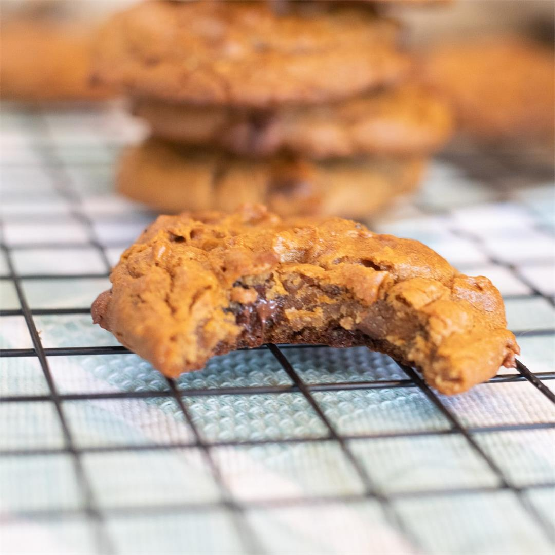Chocolate Chip Chickpea Cookies |Gluten Free