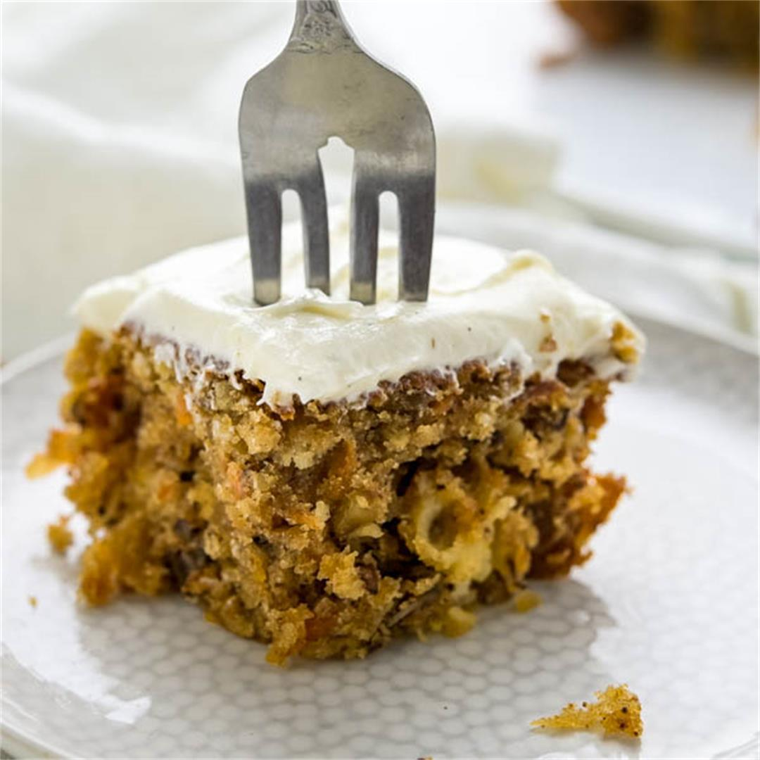 Small Carrot Walnut Cake