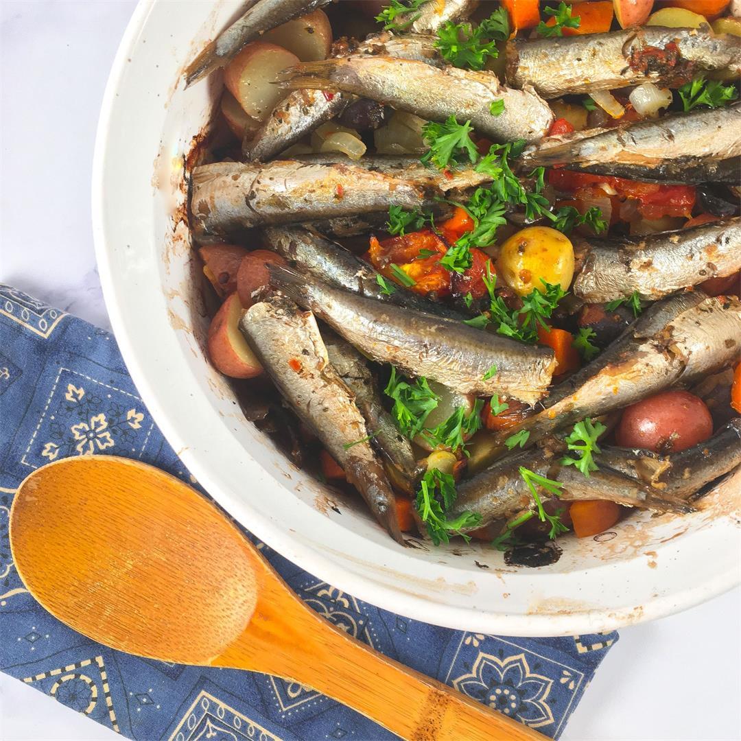 Pantry Staple Meal: One-Pan Sardine Bake
