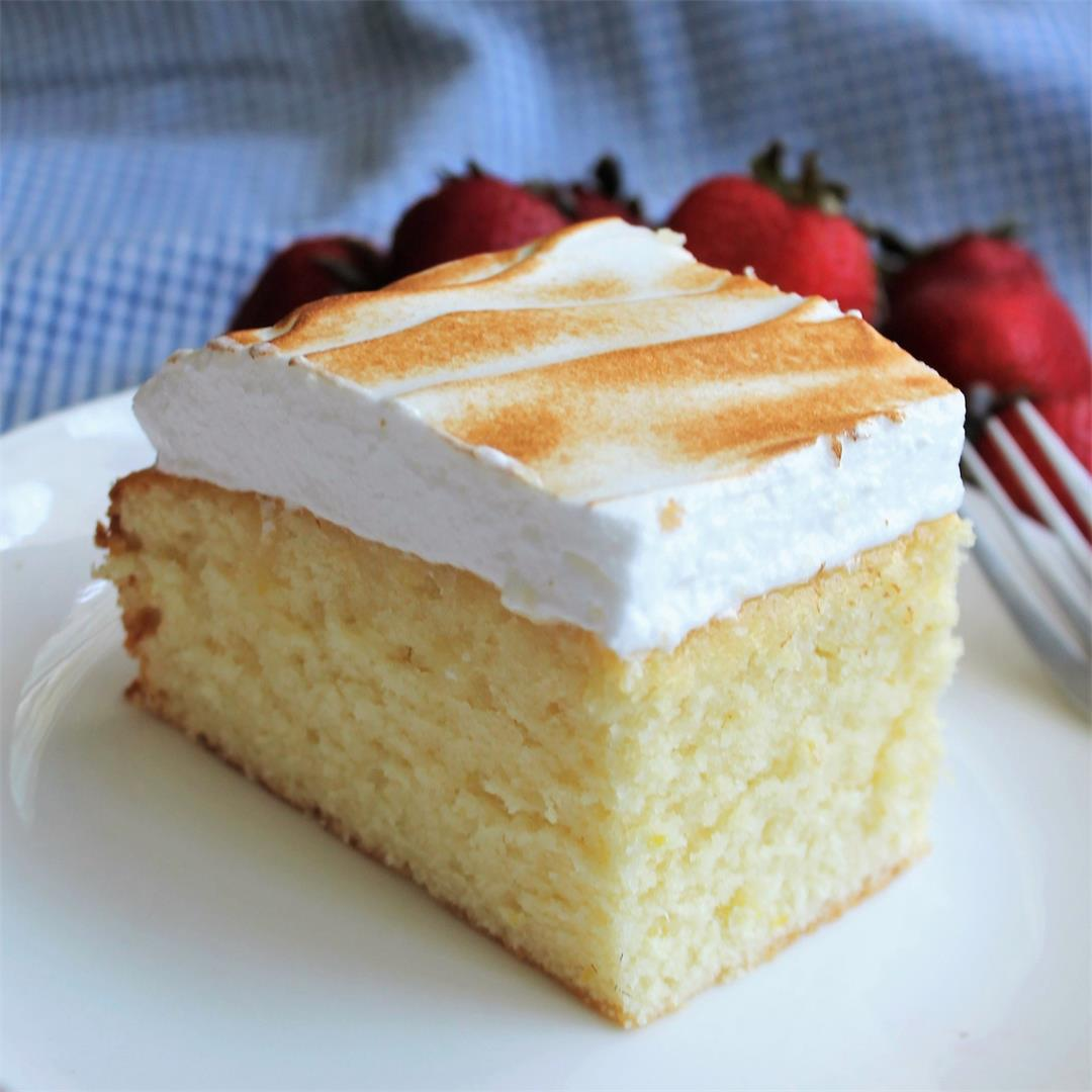 Lemon Cake with Toasted Meringue