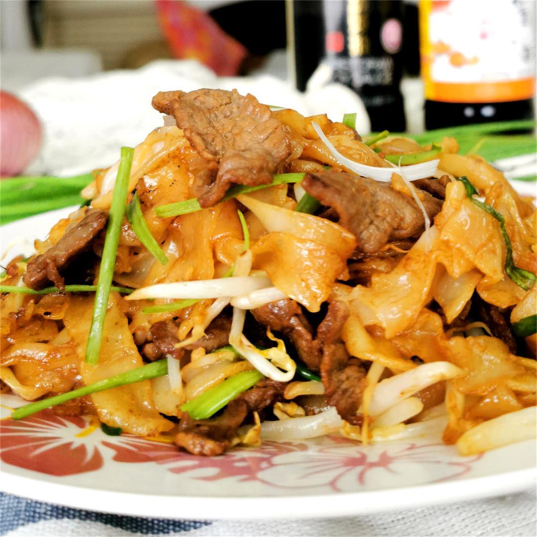 Beef chow fun 干炒牛河
