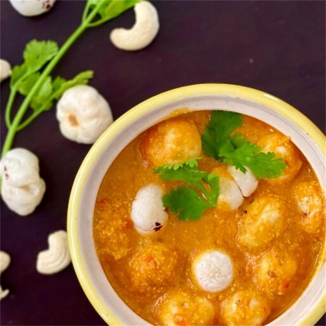 Makhane ki Sabzi: Vegan Fox-nut curry