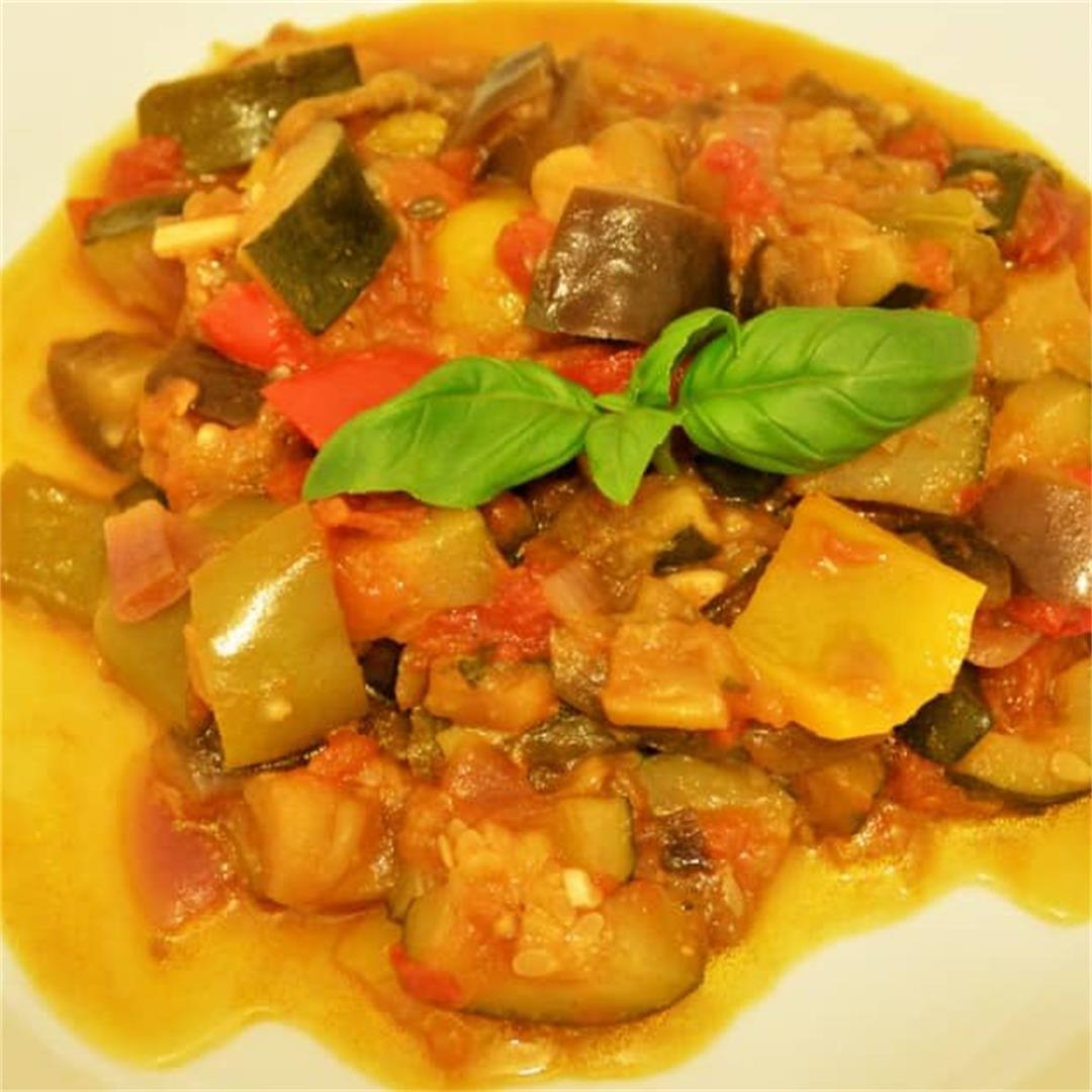 World Best Ratatouille Recipe-With Eggplant and Courgette