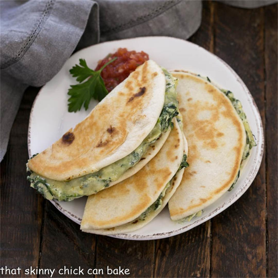 How to Make Quesadillas with Spinach Dip