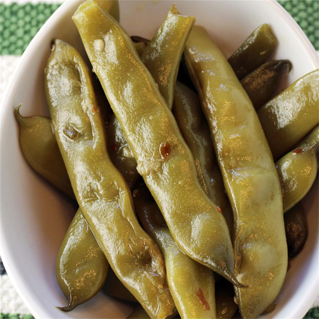 Long-cooked romano beans