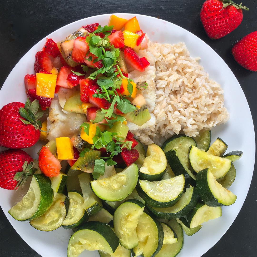 Cod Recipe (Served with Strawberry Kiwi Mango Salsa)