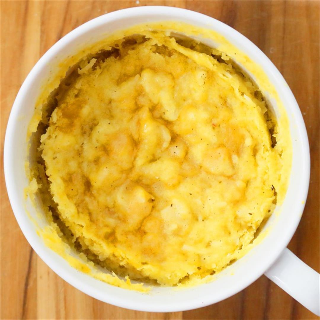 Mango Mug Cake in Microwave (Eggless)