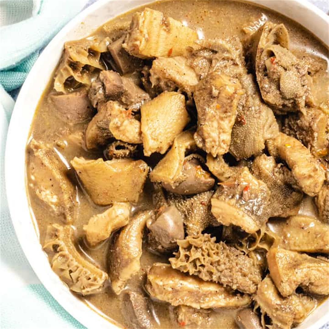 Nigerian Pepper Soup with Offal Meat