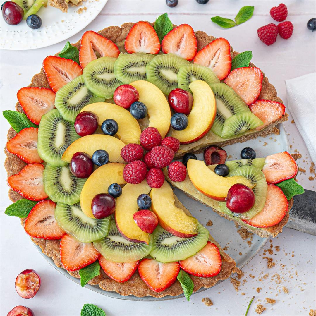 Fruit Tart with Vegan Custard