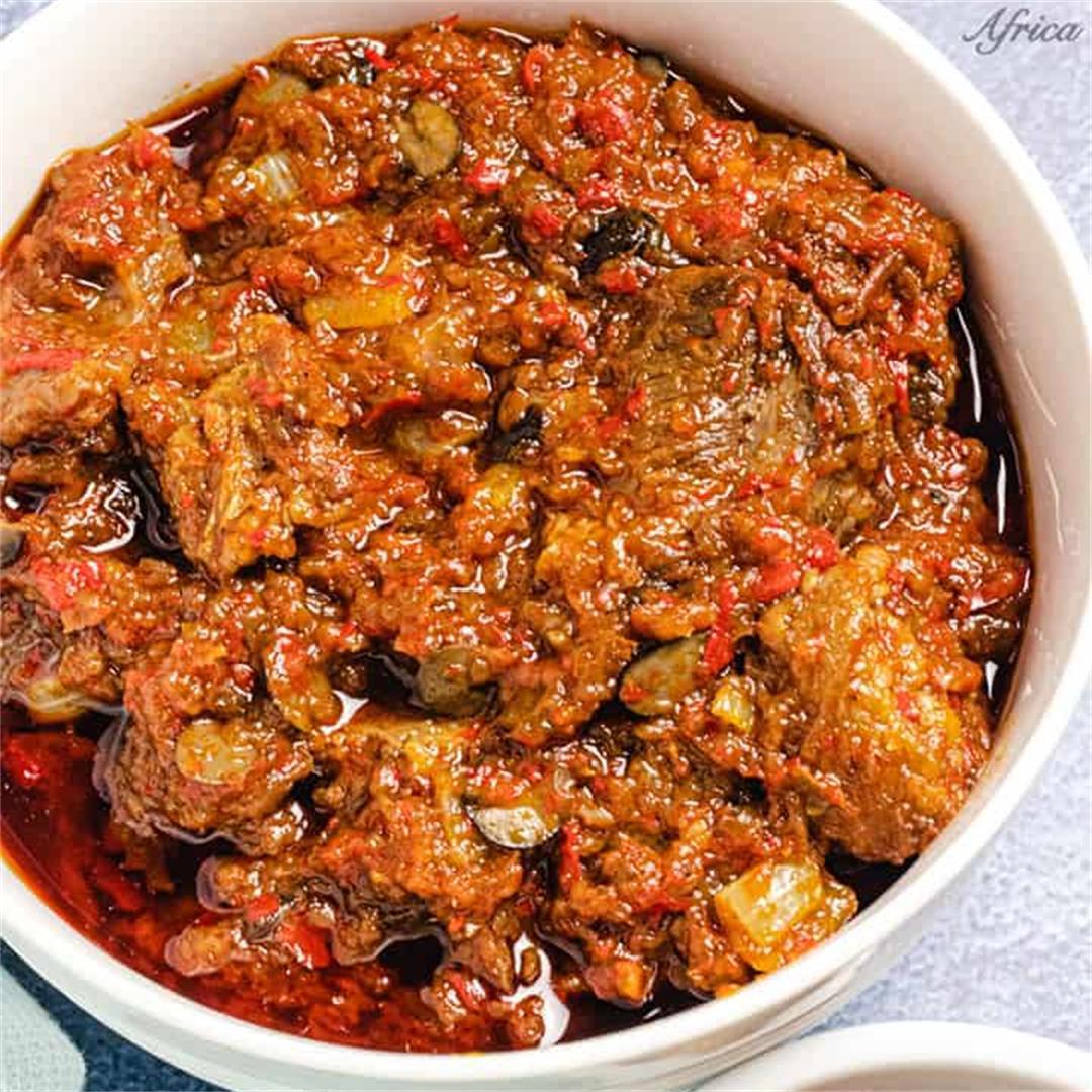 Ofada Stew (Ayamase Stew)