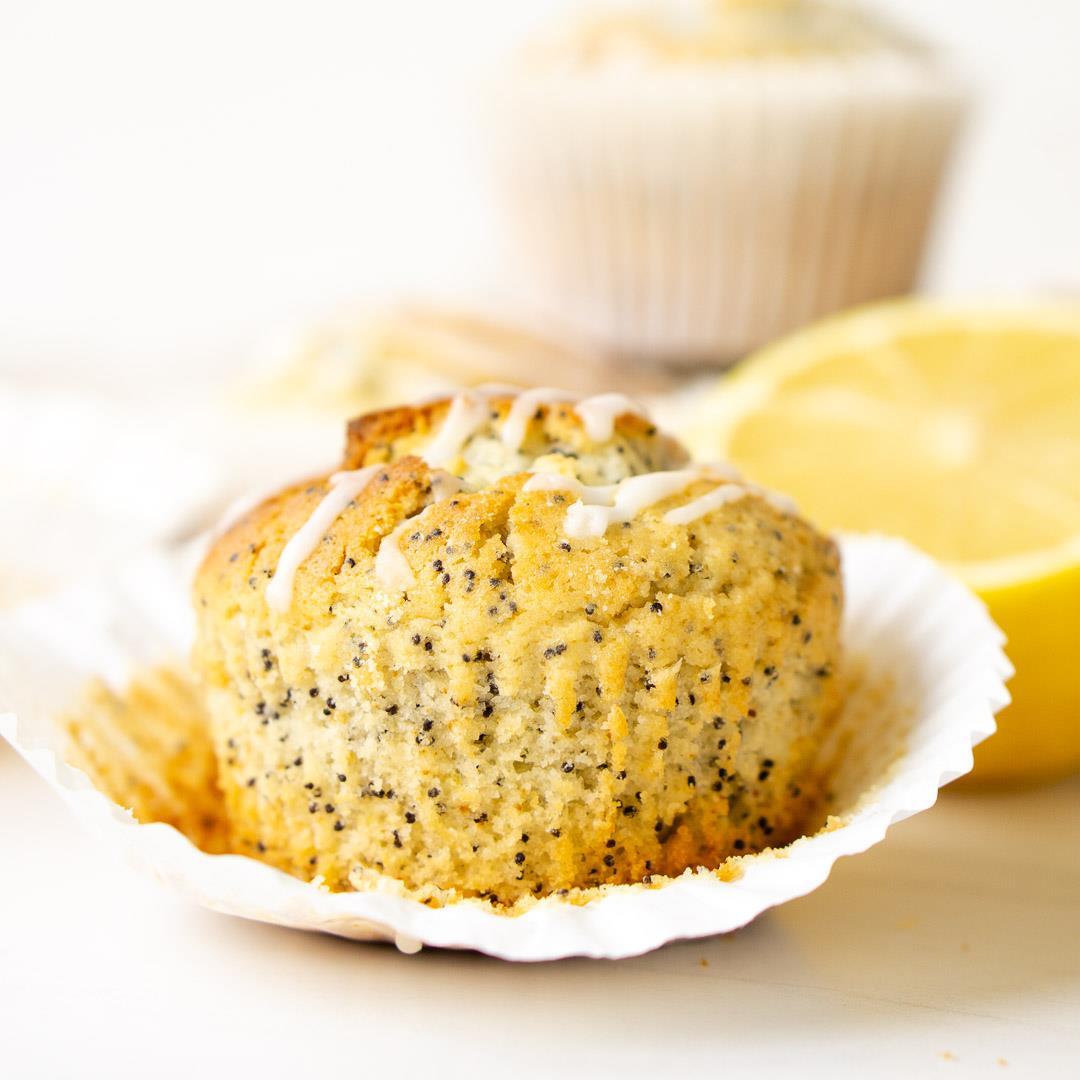 Lemon Poppy Seed Muffins (Dairy-Free)