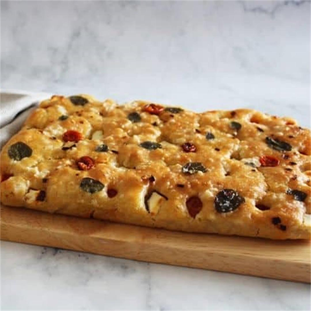 Easy Spelt Focaccia - It's Not Complicated Recipes