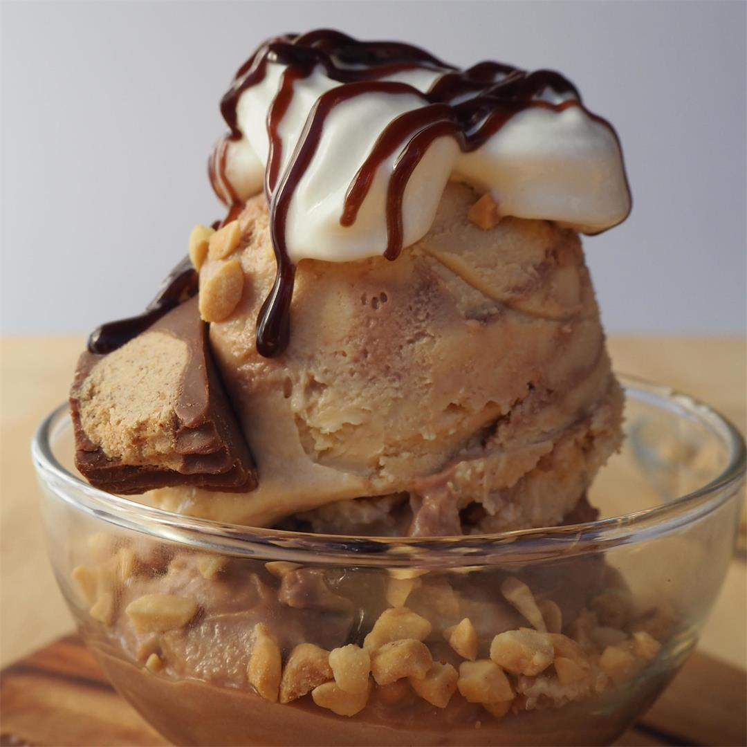 Nutella peanut butter ice cream