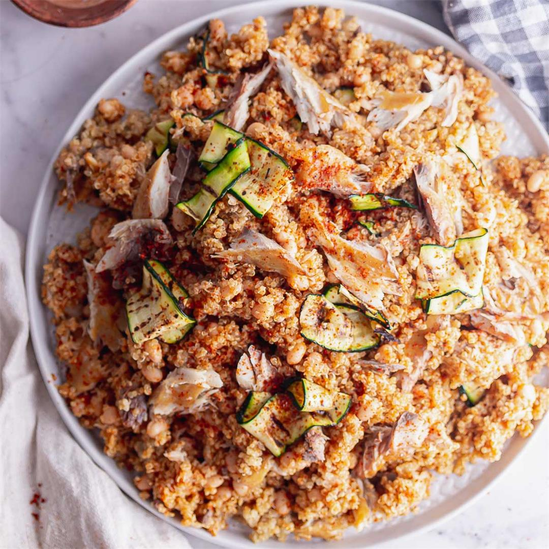 Smoked Mackerel Salad with Quinoa