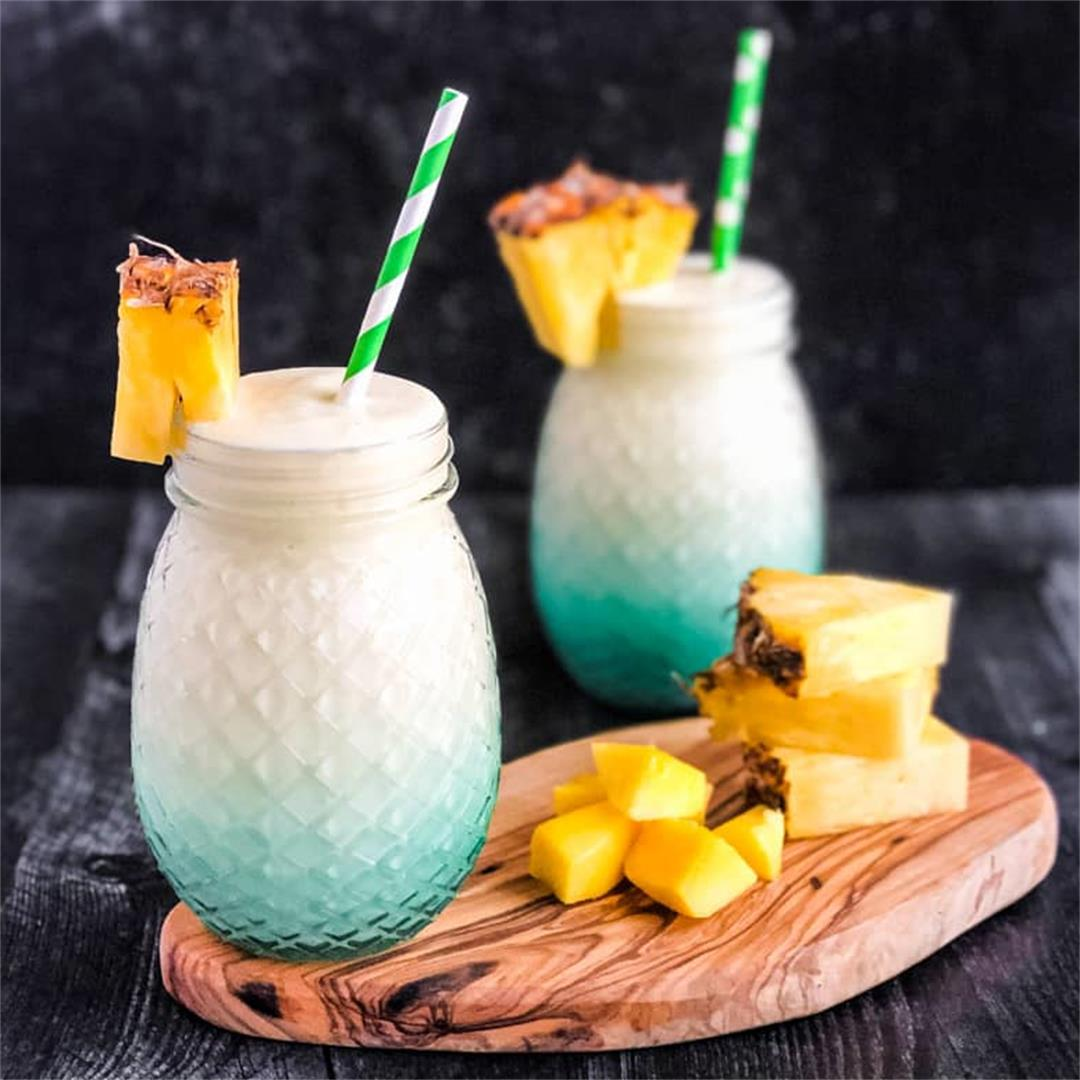 Mango Colada Recipe (Cocktail or Mocktail)