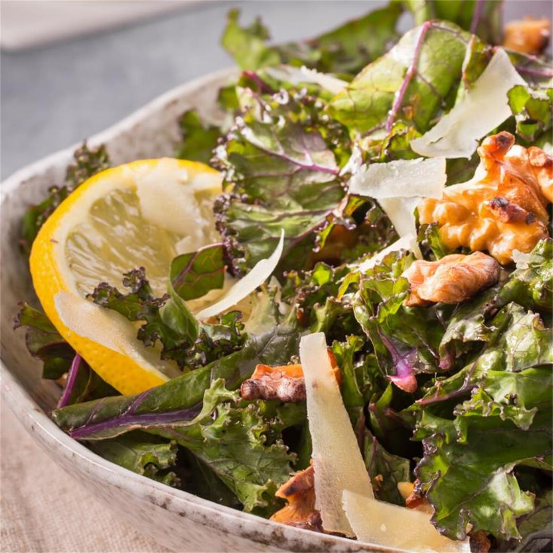 Easy Lemon Kale Salad : The Fit Habit