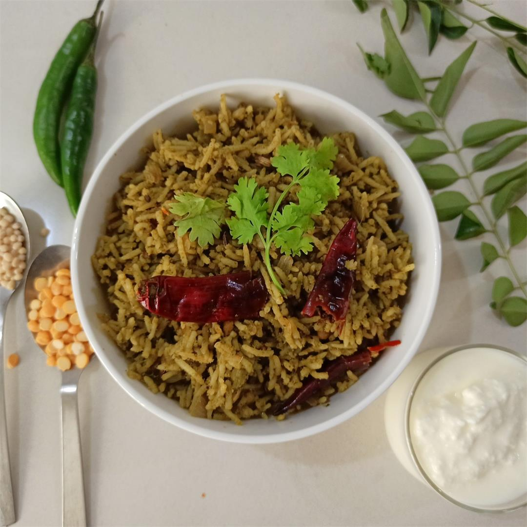 Simple Pudina Rice Recipe