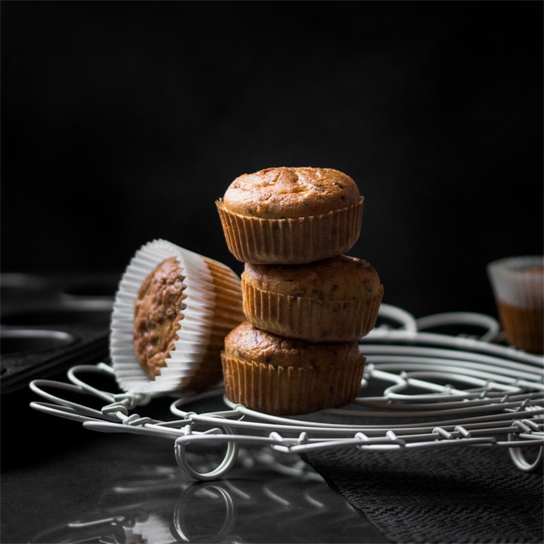 Healthy Savoury Breakfast Bacon Muffins
